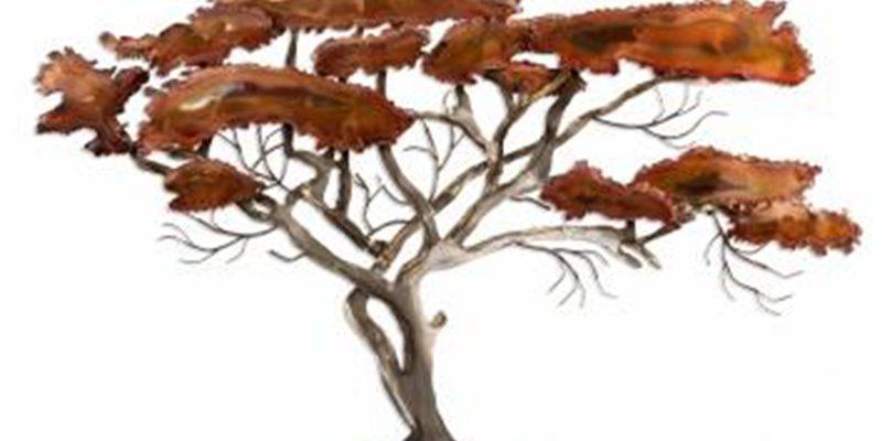 Decoratie stuk van acacia boom